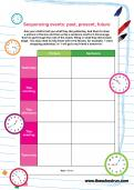 Sequencing events: past, present, future worksheet