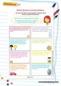 Short division word problems worksheet