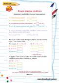 Simple algebra problems worksheet