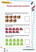 Simple subtraction practice worksheet