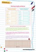Solving length problems worksheet