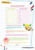 Solving weight problems worksheet