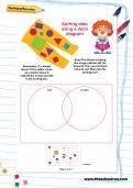 Sorting data using a Venn diagram worksheet