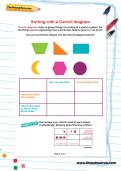 Sorting with a Carroll diagram worksheet