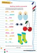 Spelling: double consonants worksheet