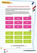 Spelling: double consonants revision worksheet
