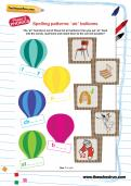 Spelling patterns: 'air' balloons worksheet