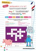 Spelling patterns: oi or oy? worksheet