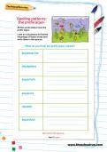 Spelling patterns: the prefix aqua- worksheet