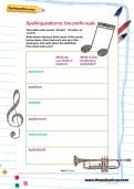 Spelling patterns: the prefix audi- worksheet