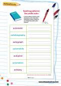 Spelling patterns: the prefix auto-