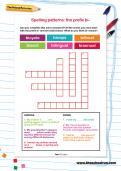 Spelling patterns: the prefix bi- worksheet