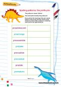 Spelling patterns: the prefix pre- worksheet