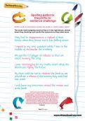 Spelling patterns: the prefix re- sentence challenge