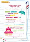 Spelling patterns: words ending -ably / -ibly worksheet