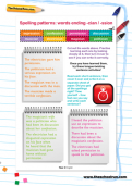 Spelling patterns worksheet: words ending -cian / -ssion