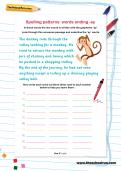 Spelling patterns: words ending -ey worksheet