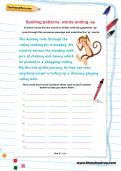 Spelling patterns: words ending -ey worksheet