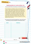 Spelling patterns worksheet: words ending -ous
