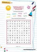 Spelling patterns: words ending -y wordsearch