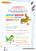 Spelling patterns: words starting co- or re- worksheet
