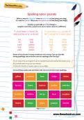Spelling rules: plurals worksheet