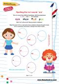 Spelling the /or/ sound: 'ore' worksheet
