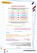 Spelling patterns: the prefix dis- worksheet