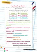 Spelling patterns: the prefix mis-