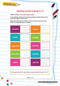 Spelling words ending in -le worksheet