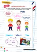 Split digraph who's who worksheet