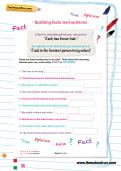 Spotting facts and opinions worksheet