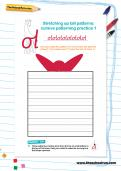 Stretching up tall patterns cursive patterning practice worksheets