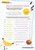Subjunctive: matching halves of sentences worksheet