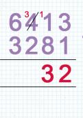 Subtracting four digit numbers using column subtraction tutorial