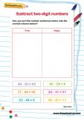 Subtract two-digit numbers activity
