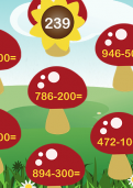 Subtracting a hundreds number from a three-digit number tutorial
