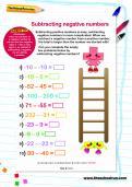 Subtracting negative numbers worksheet