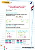 Subtracting three-digit numbers worksheet