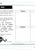 Syllables in animal names worksheet