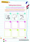 Talking about choices worksheet
