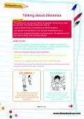 Talking about dilemmas worksheet