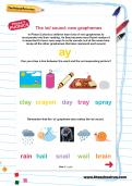 The /ai/ sound: new graphemes worksheet