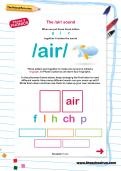 The /air/ sound worksheet