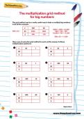 math worksheet : grid method multiplication year 3 worksheets  worksheets for  : Multiplication Grid Method Worksheet