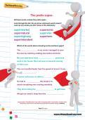 The prefix super- worksheet