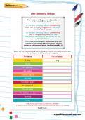The present tense worksheet