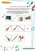 The science of making music worksheet