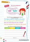 The 'tch' grapheme worksheet