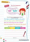 The 'tch' grapheme worksheet